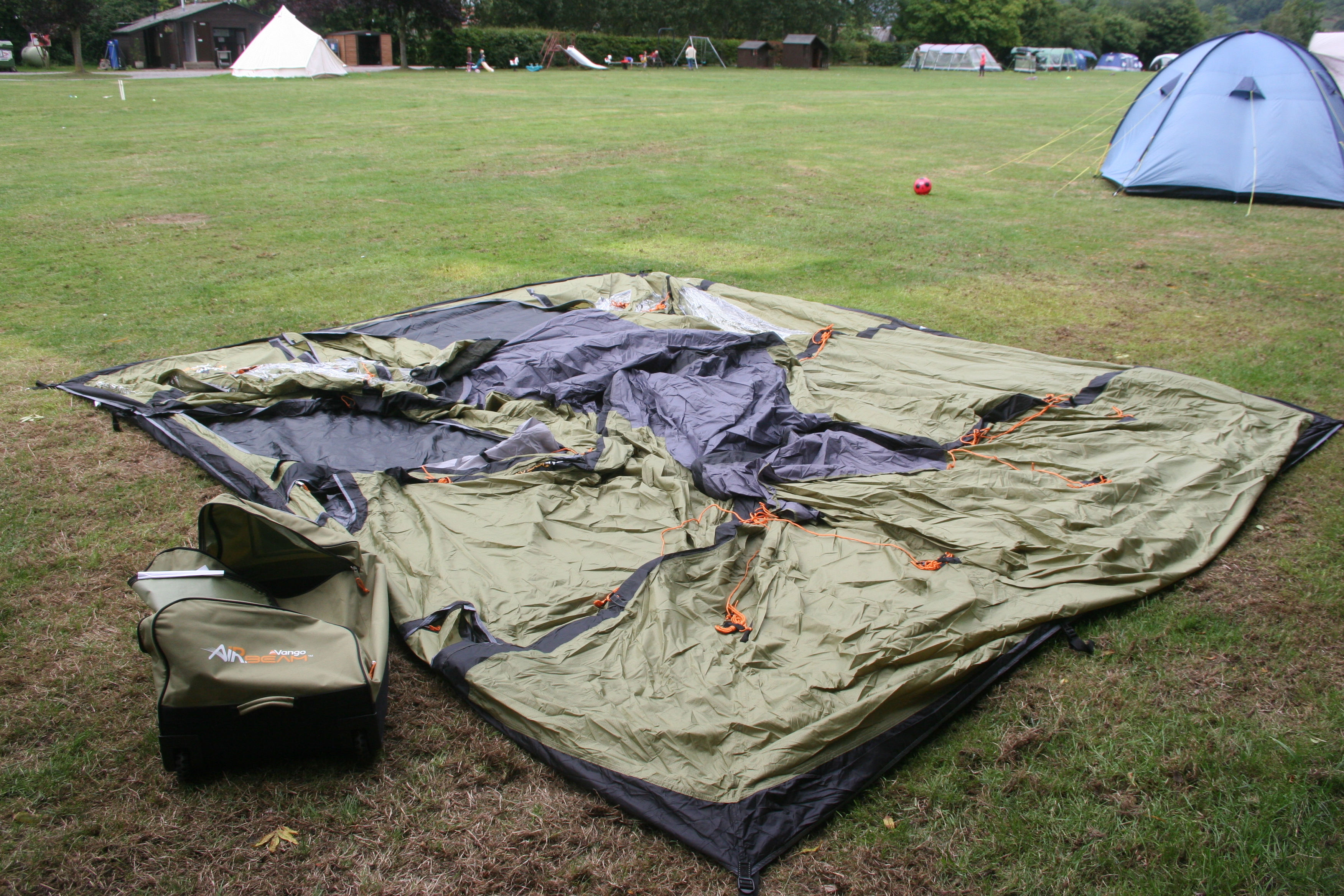 Image & Road Test - Vango Airbeam Kinetic 600 Tent - Globalmouse Travels
